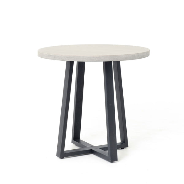 Four Hands Cyrus Round Dining Table - Black, Light Grey | Alchemy Fine Home