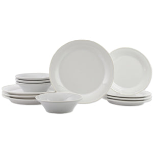 Vietri Vietri Chroma White 12-Piece Place Setting VCRM-W003000S-12