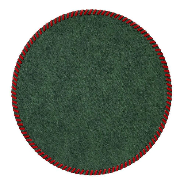 Bodrum Bodrum Whipstitch Placemat - Forest & Red - Set of 4 WHP9900P