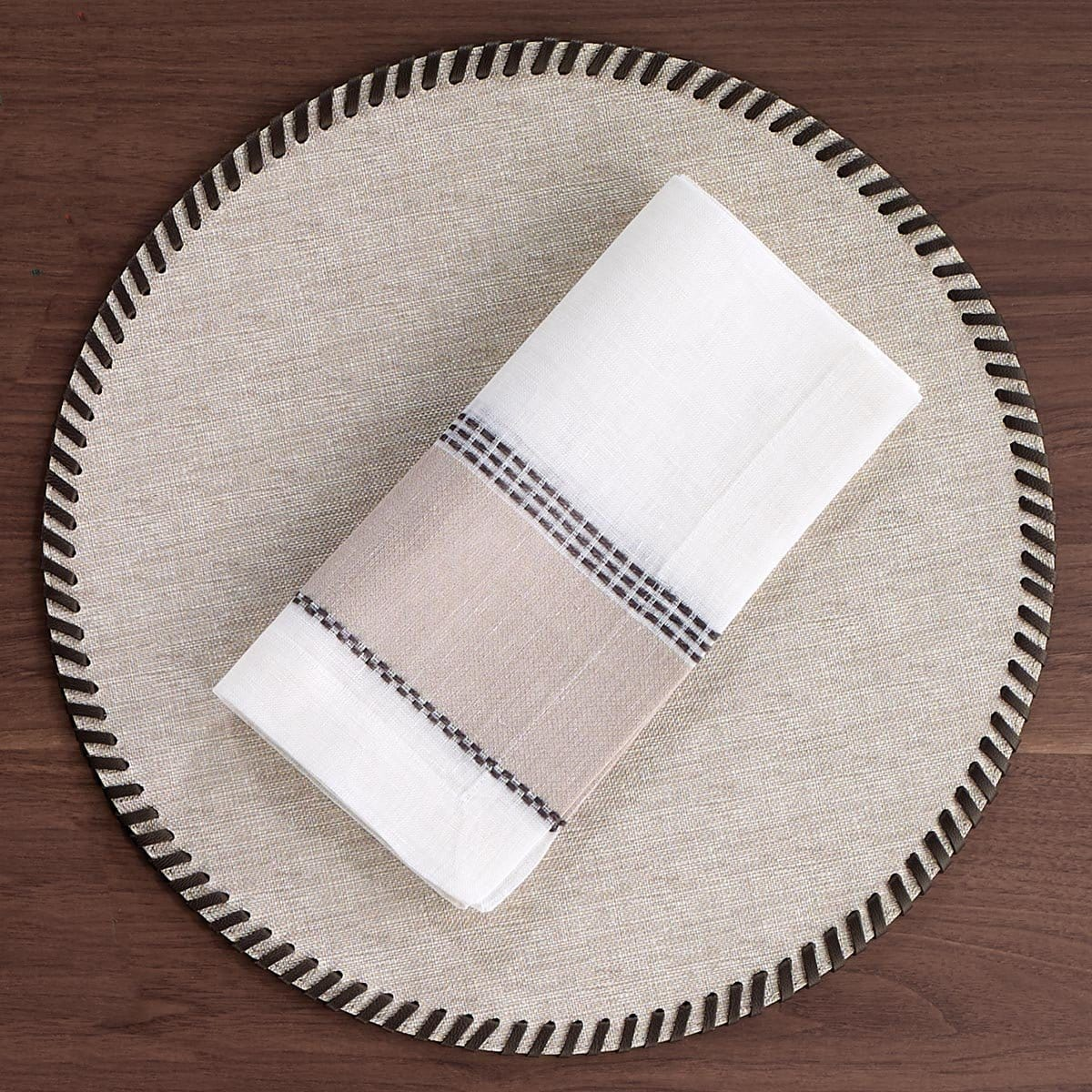 Bodrum Bodrum Whipstitch Placemat - Beige - Set of 4 WHP1300P