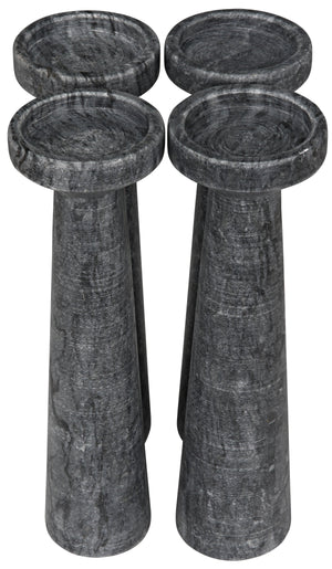 Noir Set Of 4 Aleka B Marble Candle Holder - 2 Available Colors