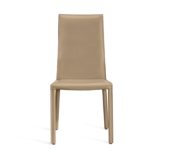 Interlude Home Vera Dining Chair in Café Latte Finish and Upholstery - Set of 2