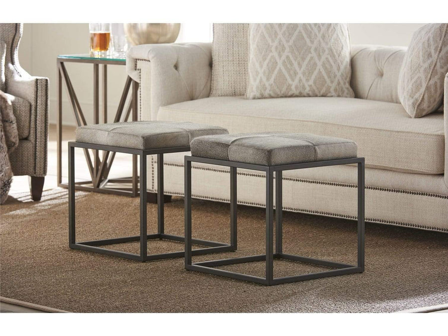 Alchemy Living Accent Chairs Safari Ottoman - Gray