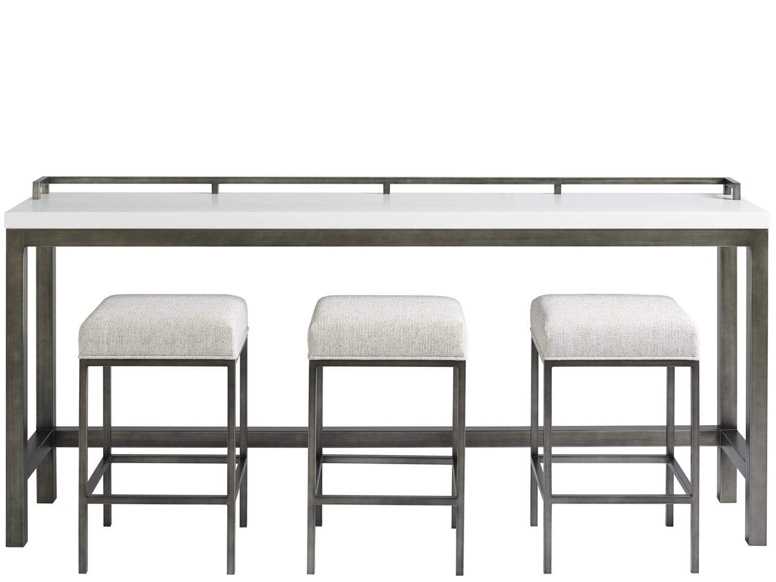 Alchemy Living Alchemy Living Gallery Engage Console Table w/Stools - White 915X803