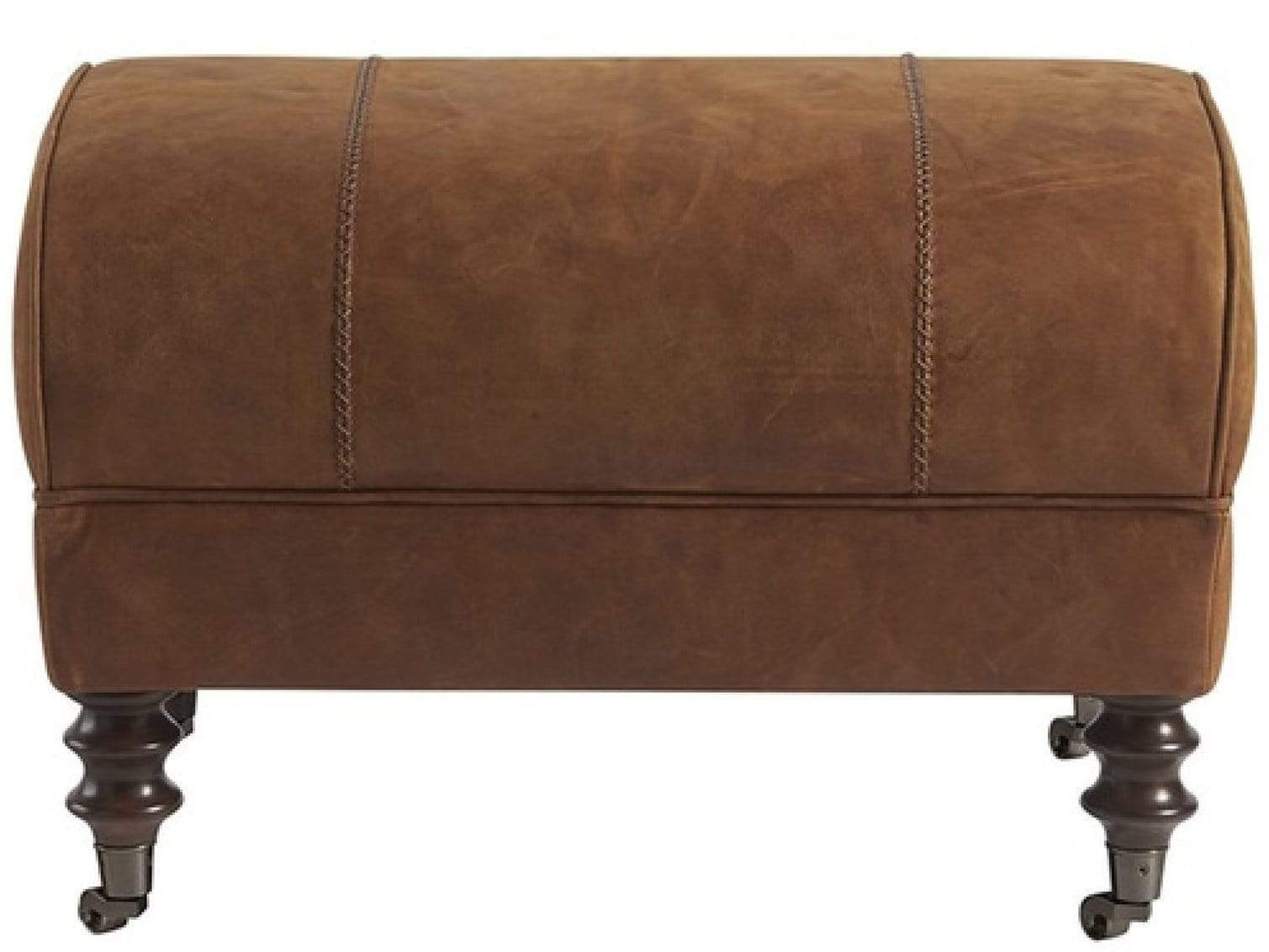 Alchemy Living Alchemy Living Leather Bryan Ottoman - Brown 682544-706