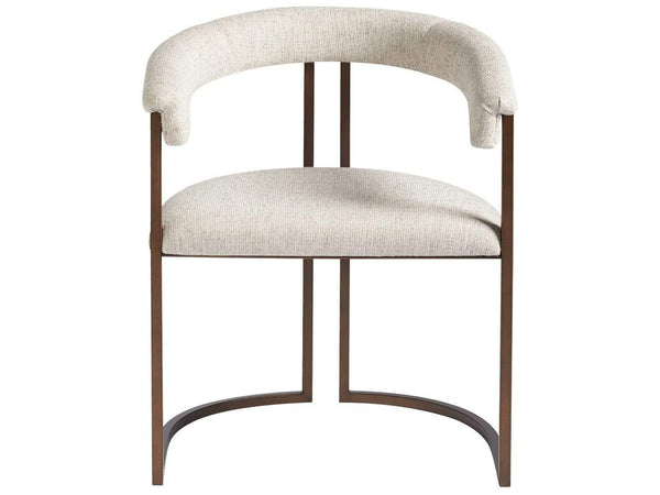 Alchemy Living Alchemy Living Slate Harley Arm Chair - Set of Two - Copper & White 847733P