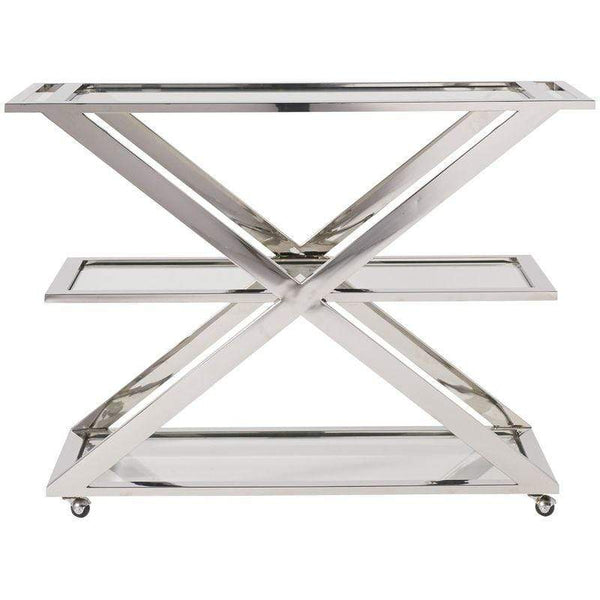 Alchemy Living Alchemy Living Stile Draper Bar Cart Stainless - Silver 656D860