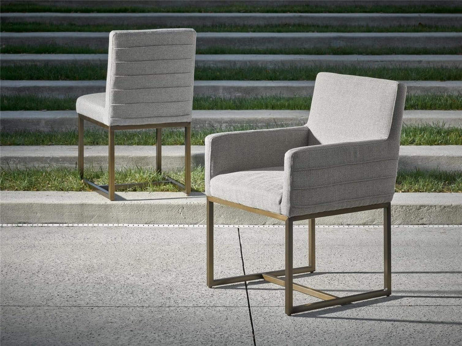 Alchemy Living Alchemy Living Stile Jake Arm Chair - Set of Two - Copper & Gray 643733P