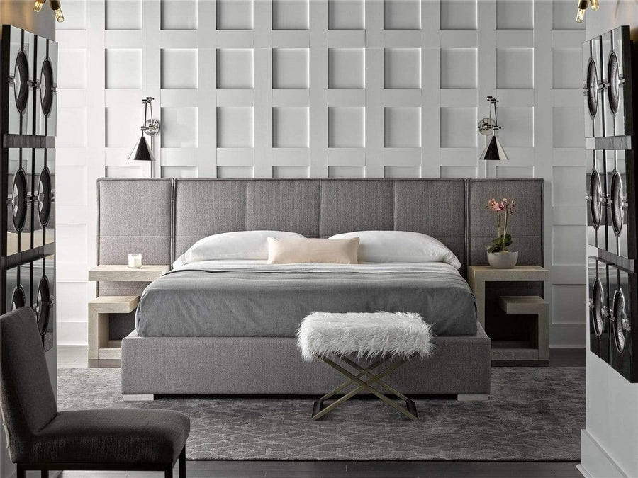 Alchemy Living Alchemy Living Stile Lance Bed with Wall Panel Queen - Gray 645250BW
