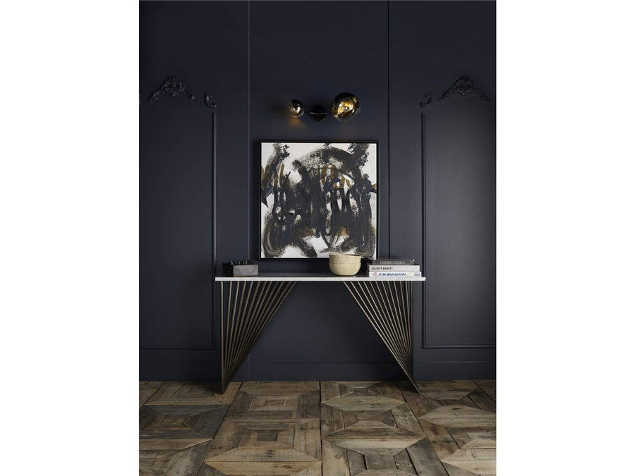Alchemy Living Alchemy Living Urbain Bangkok Console Table - White and Bronze 807223