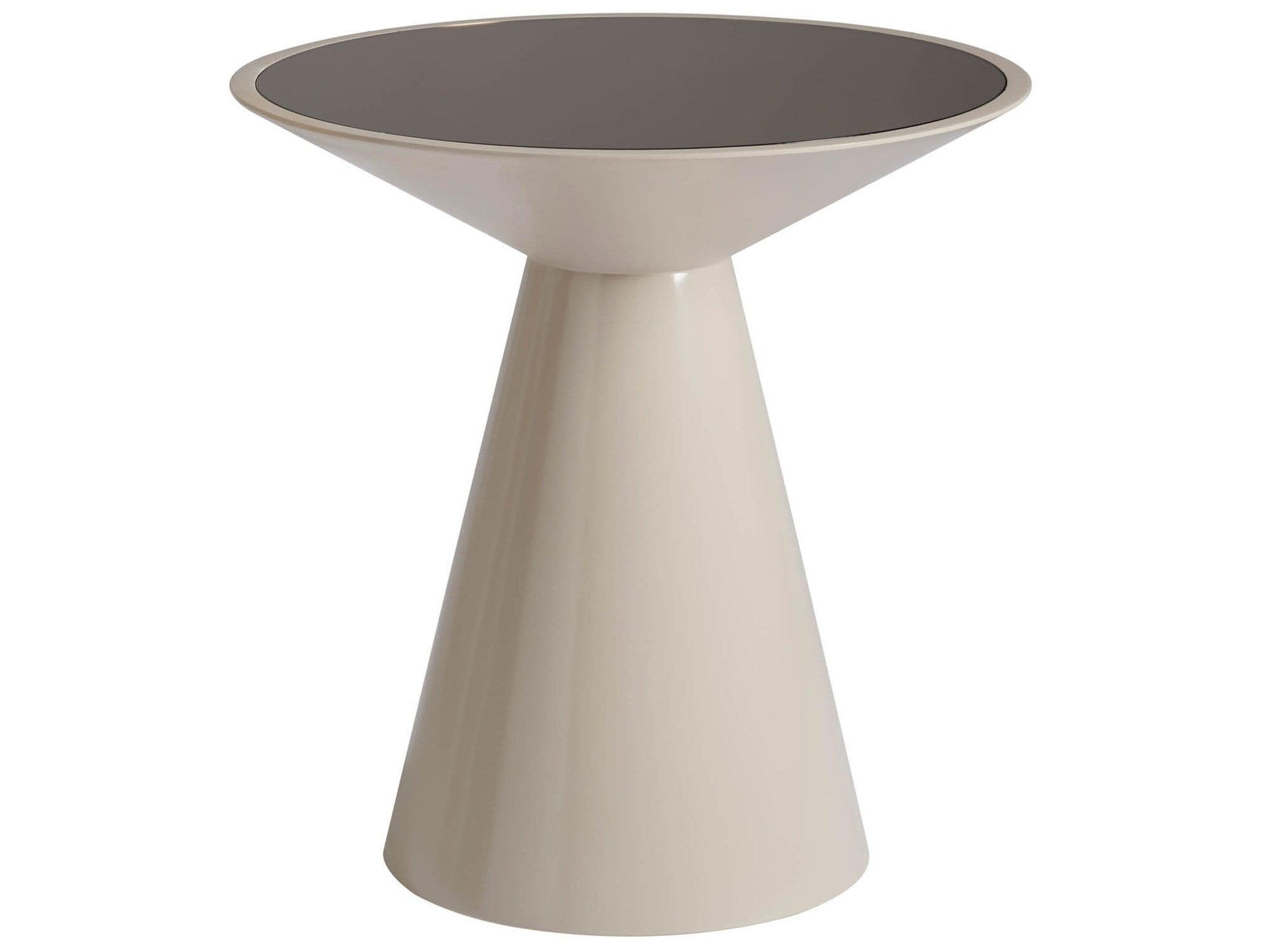 Alchemy Living Alchemy Living Urbain Cairo Round Accent Table - Beige and Gray 807223