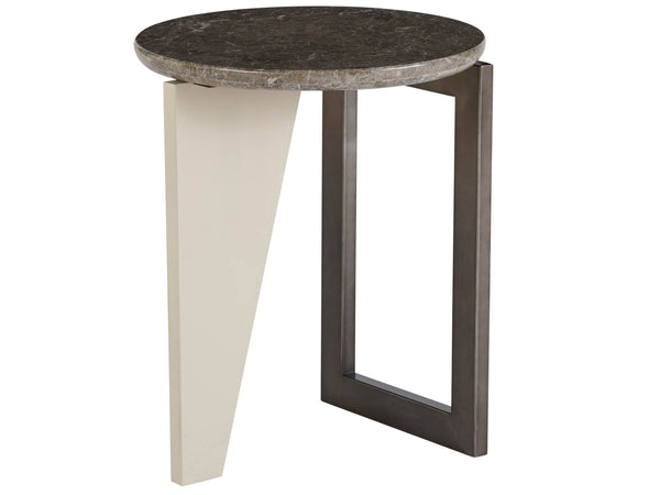 Alchemy Living Alchemy Living Urbain Lima Round End Table - Beige and Gray 807223