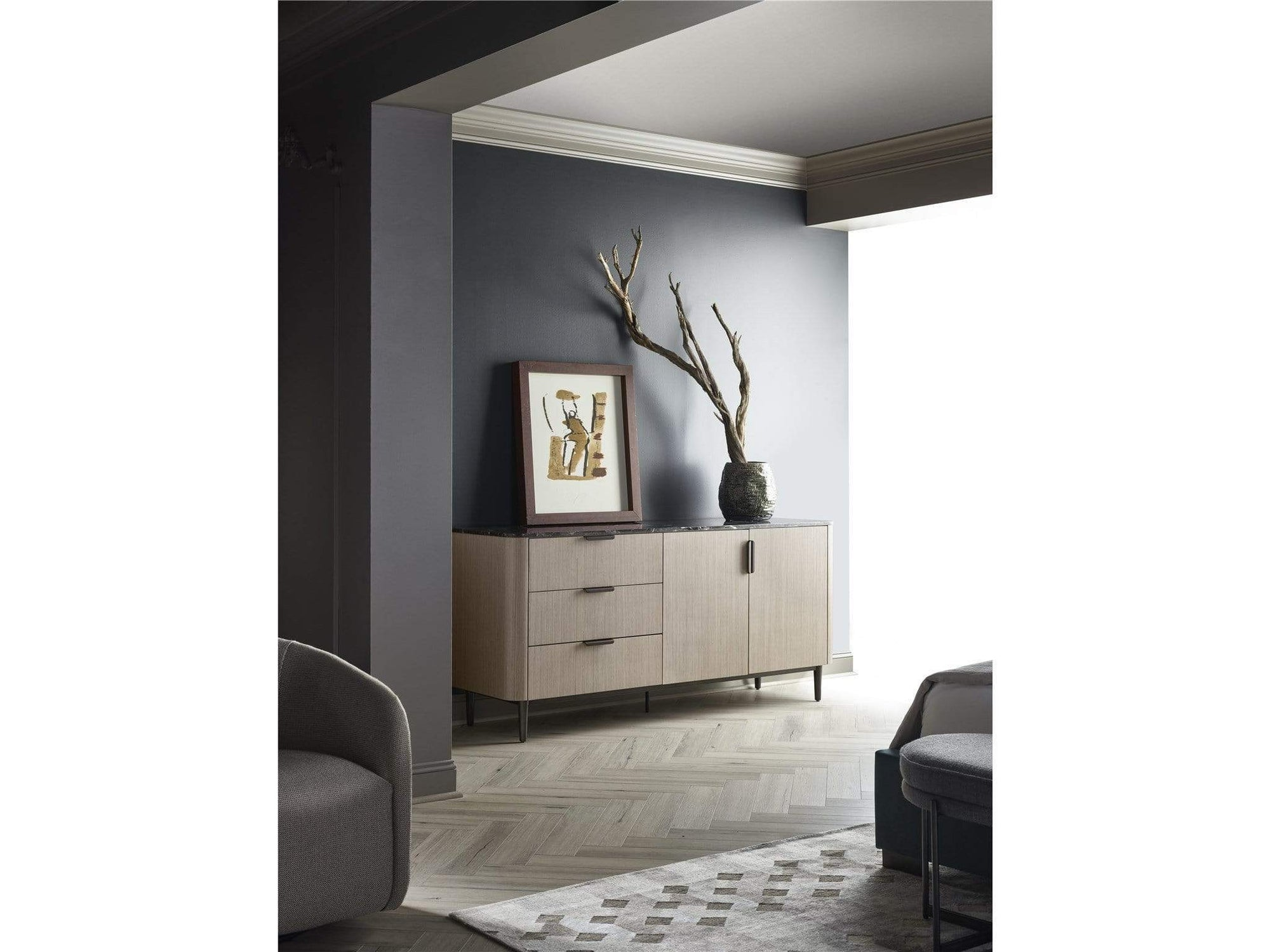 Alchemy Living Alchemy Living Urbain Manila Door Dresser - Black and Beige 807223