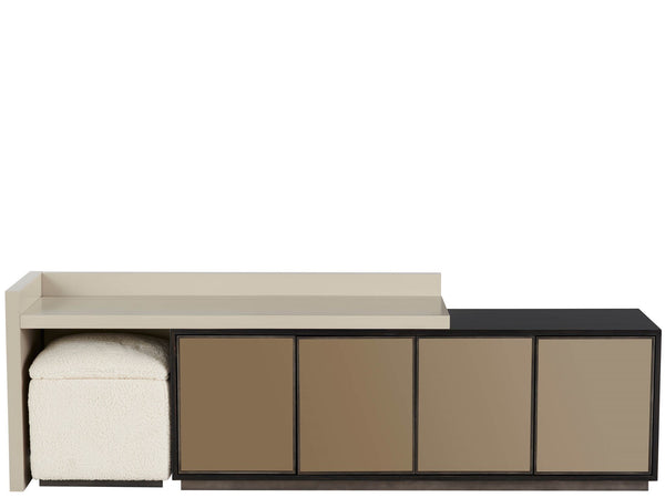 Alchemy Living Alchemy Living Urbain Porto Console with Stool - Beige and Black 807223