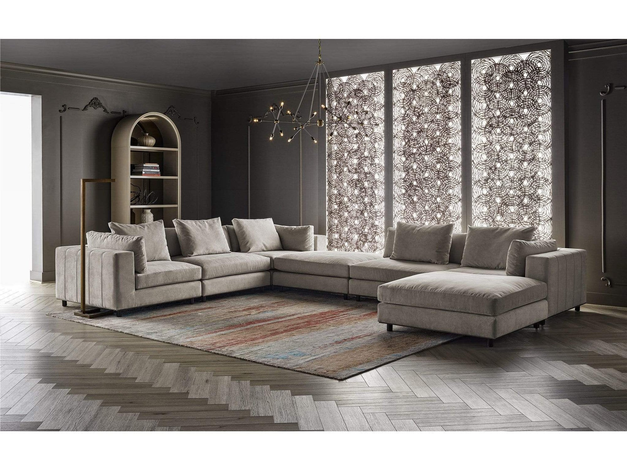 Alchemy Living Alchemy Living Urbain Rome Sectional - Ivory 807223