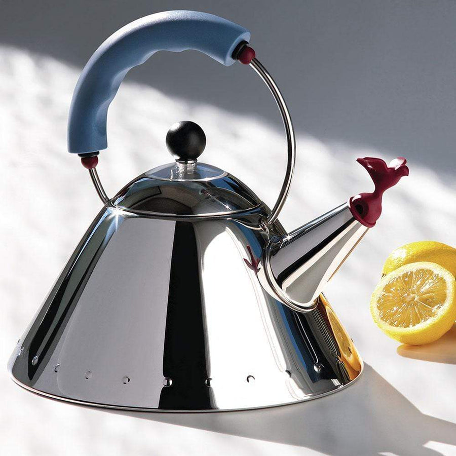 Alessi Alessi 9093 Kettle in Silver & Blue 9093 B