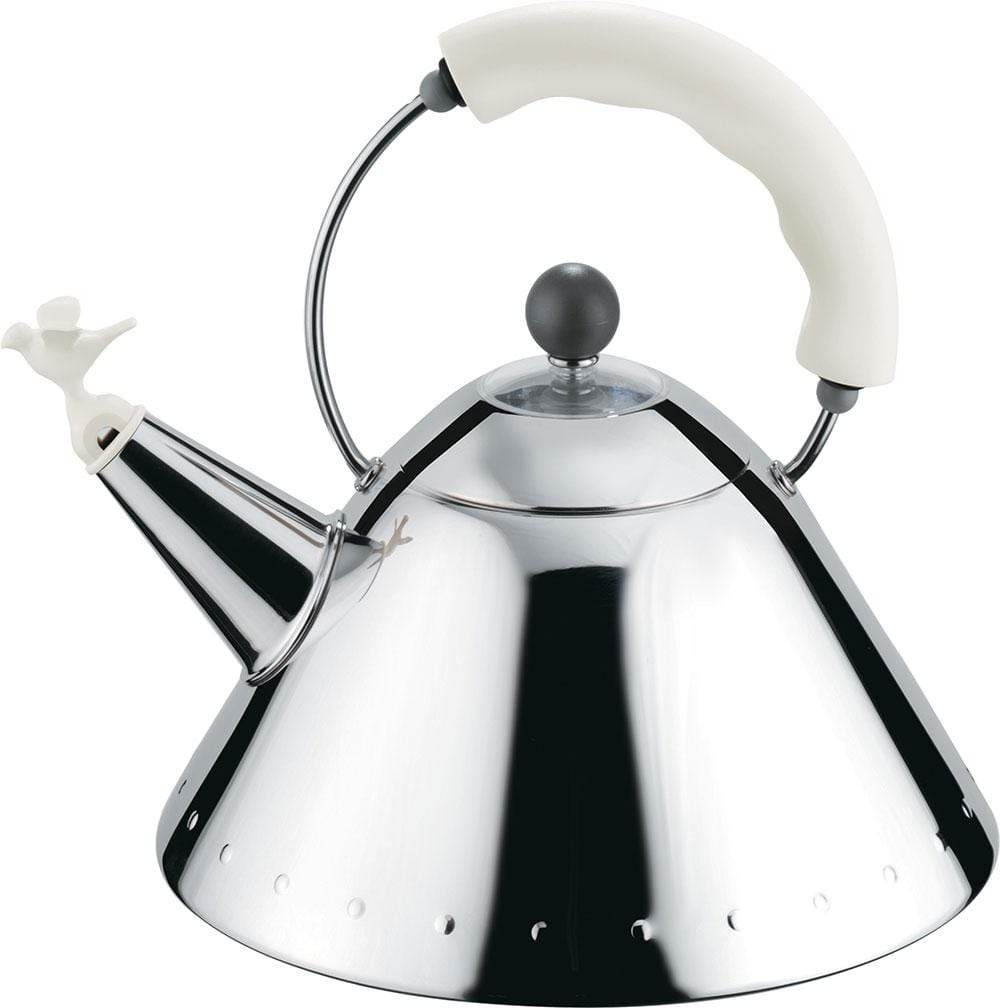 Alessi Alessi 9093 Kettle in Silver & White 9093 W