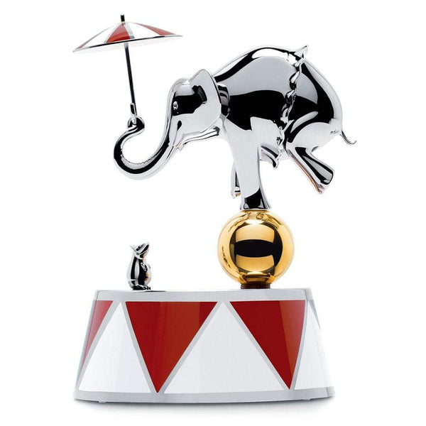 Alessi Alessi Ballerina Musical Box in Red & Silver MW37