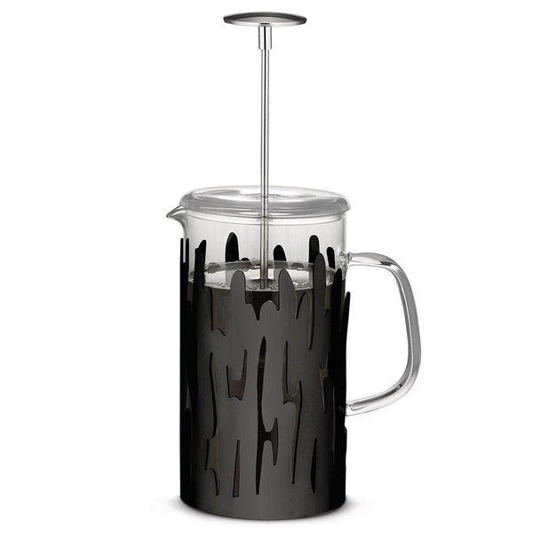 Alessi Alessi Barkoffee Press Filter Coffee Maker in Black BM12/8 B