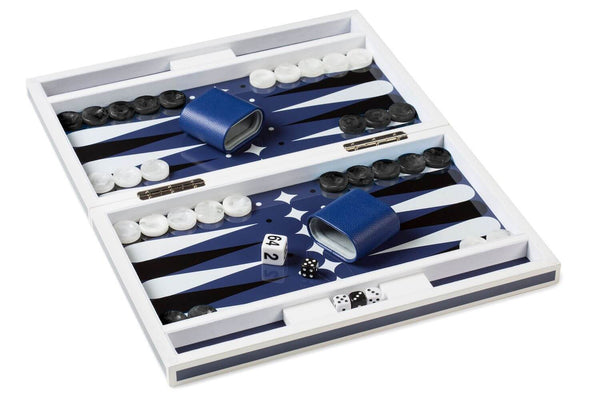 Aurosi Aurosi Blue Lacquer Backgammon set 1637A