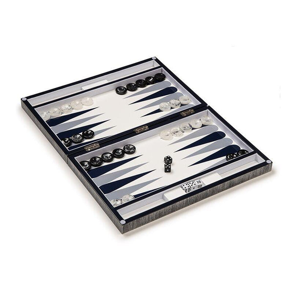 Aurosi Aurosi Brushed Metal Backgammon Set 1766A