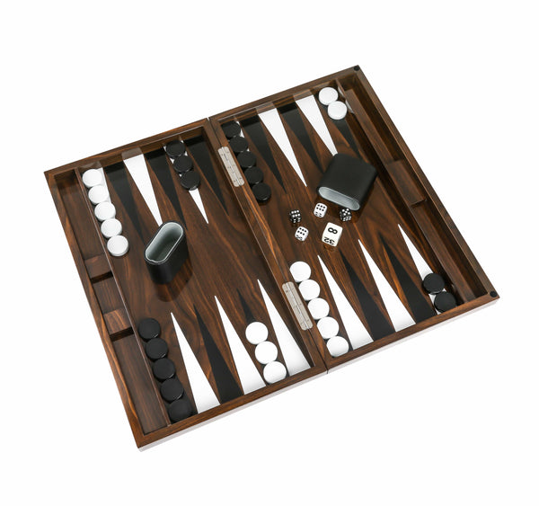 Aurosi Aurosi Wood Grain Lacquer Backgammon Set 1632A