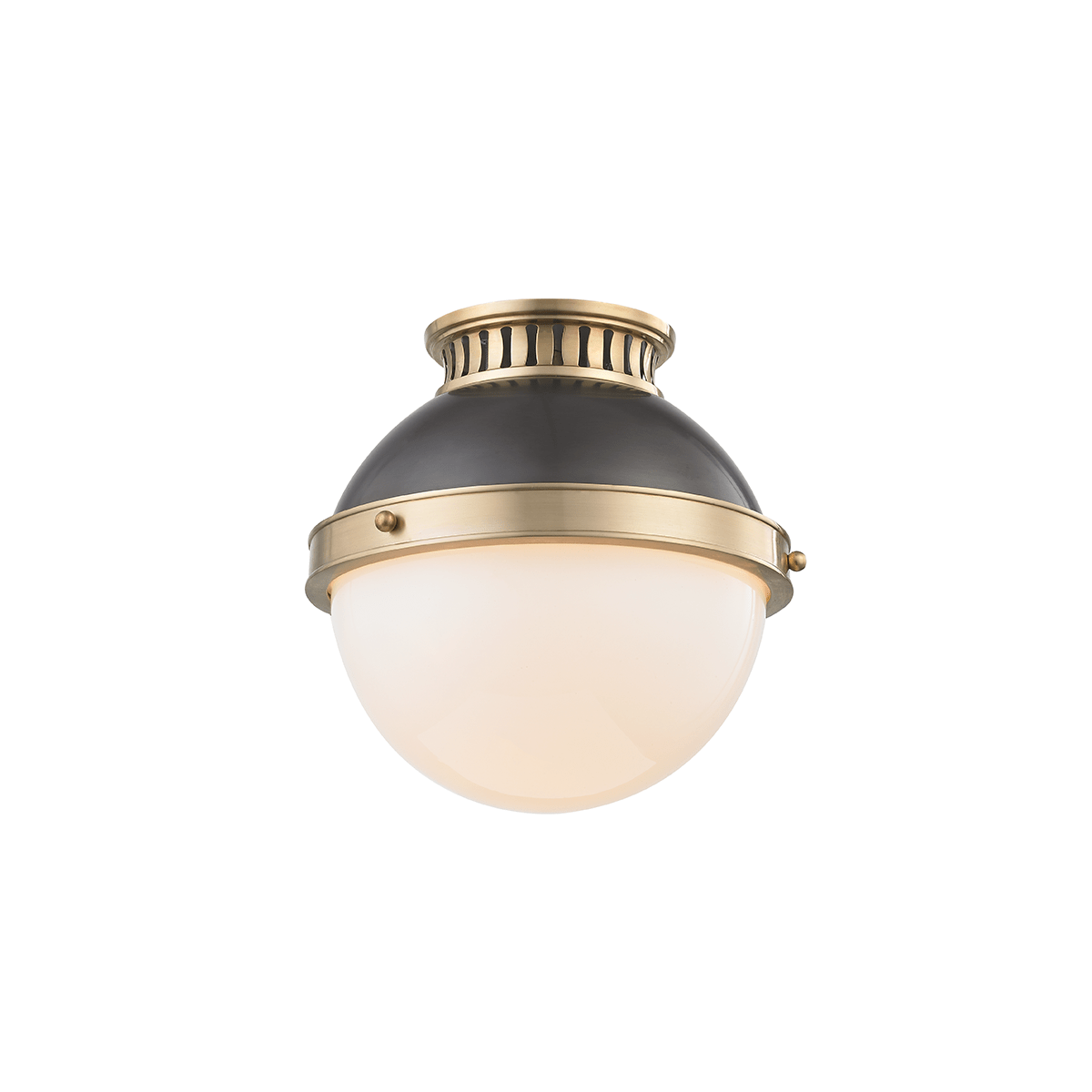 Hudson Valley Lighting Hudson Valley Lighting Latham Ceiling Lamp – Antique Distressed Bronze & Opal Shiny 4009-ADB