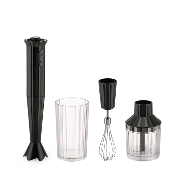Alessi Alessi Plisse Hand Blender Set - Available in 4 Colors Black