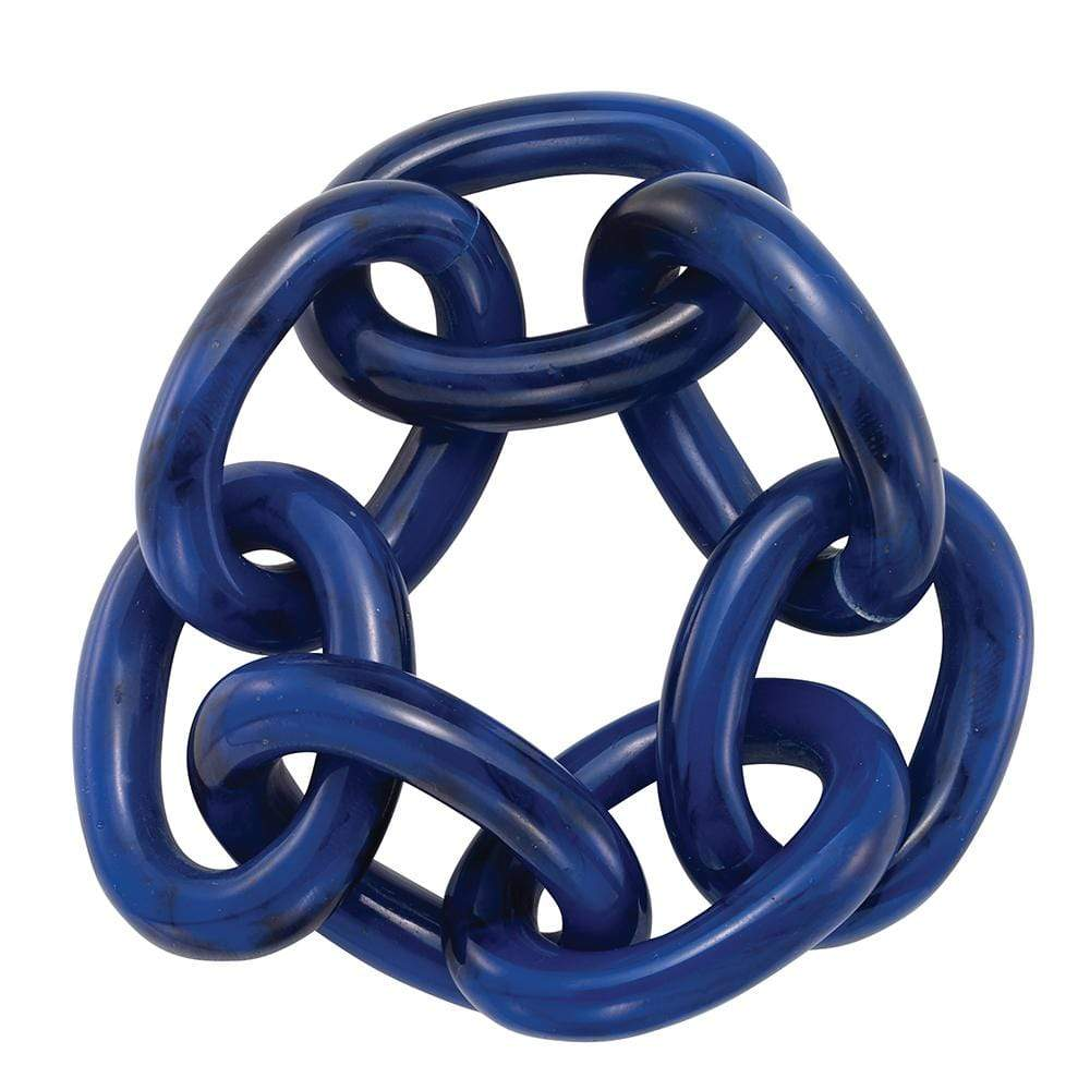 Bodrum Bodrum Chain Link Napkin Ring - Navy - Set of 8 NNR60354p-S8