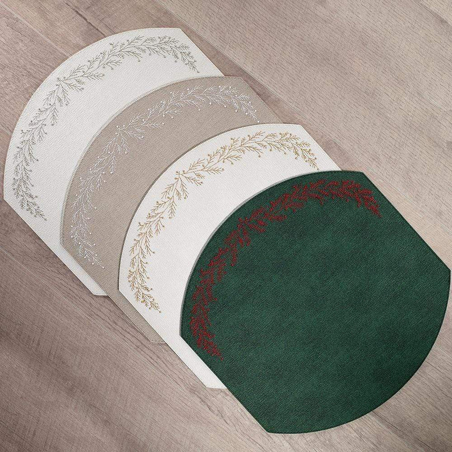 Bodrum Bodrum Holly Placemat - Forest and Red - Set of 4 LHO9911p
