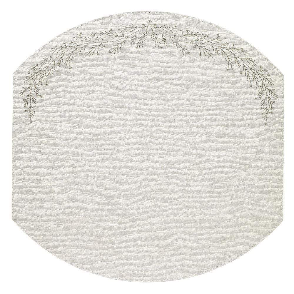 Bodrum Holly Placemat - Silver - Set of 4