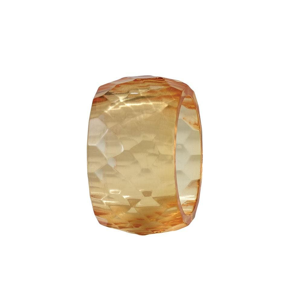 Bodrum Bodrum Opaque Prism Napkin Ring - Gold - Set of 8 NNR60961p-S8
