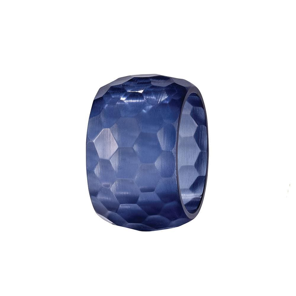 Bodrum Bodrum Opaque Prism Napkin Ring - Navy - Set of 8 NNR60965p-S8