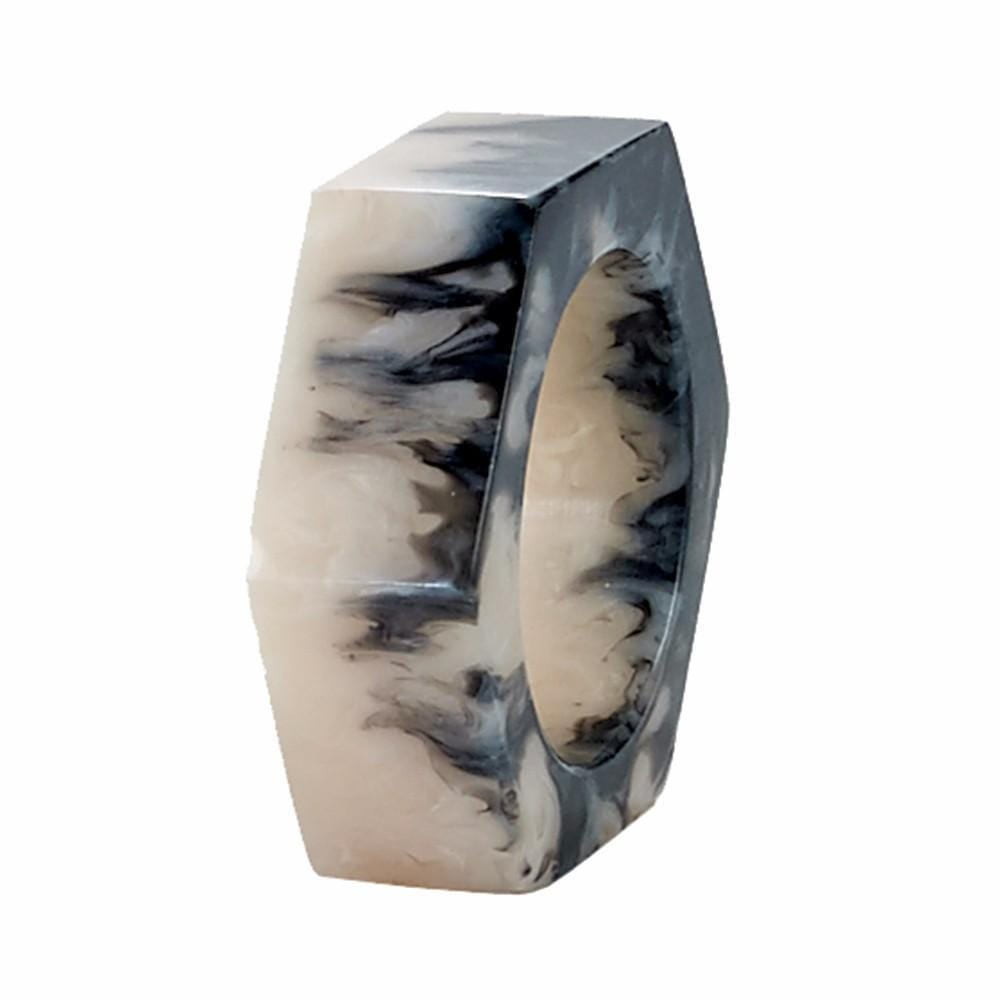 Bodrum Bodrum Piper Napkin Ring - Beige Marble - Set of 8 NNR55712p-S8