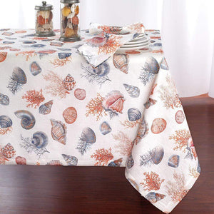 "Bodrum Bodrum Seashells Tablecloth - 63"" x 108"" SEA0704"