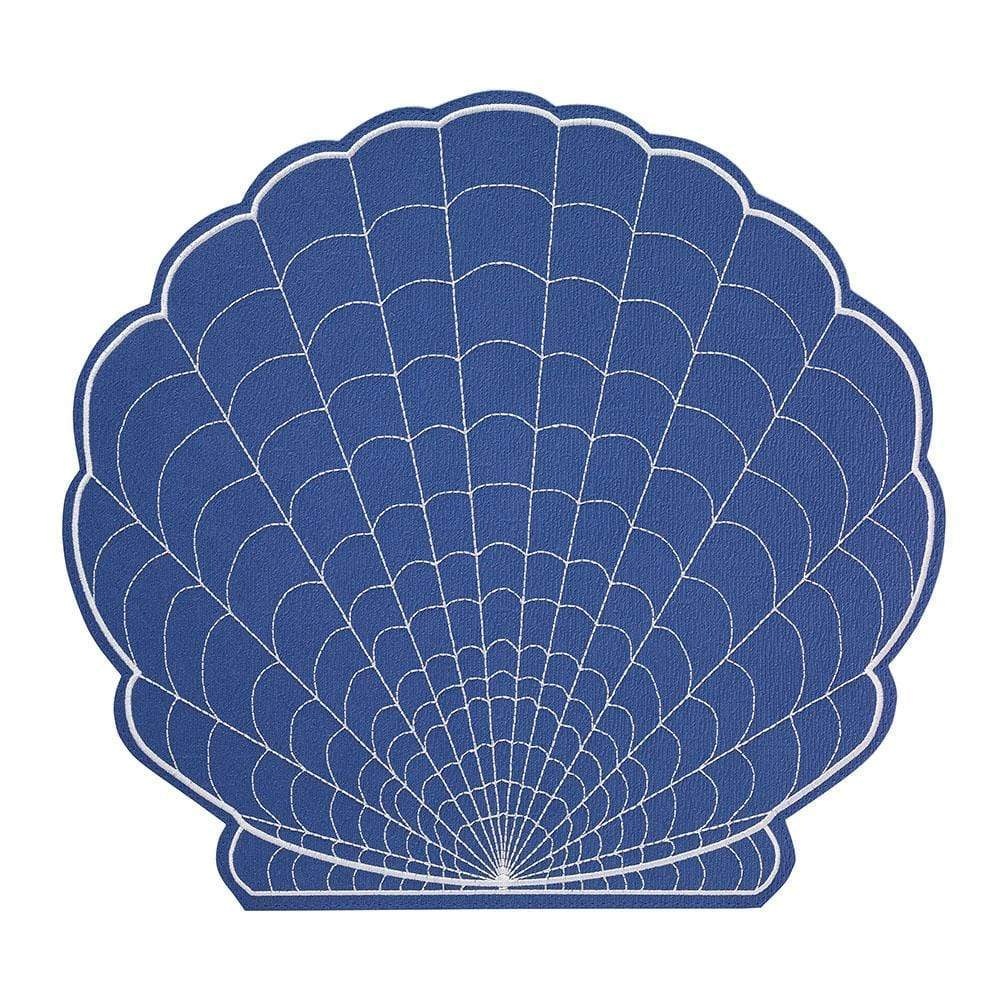 Bodrum Bodrum Shell Placemat - White and Periwinkle SHE9801p