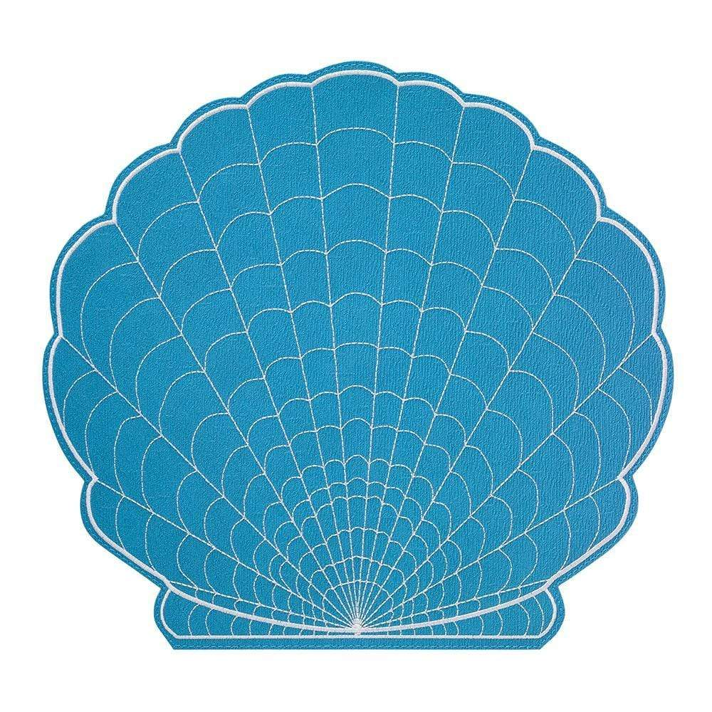 Bodrum Bodrum Shell Placemat - White and Turquoise SHE9201p