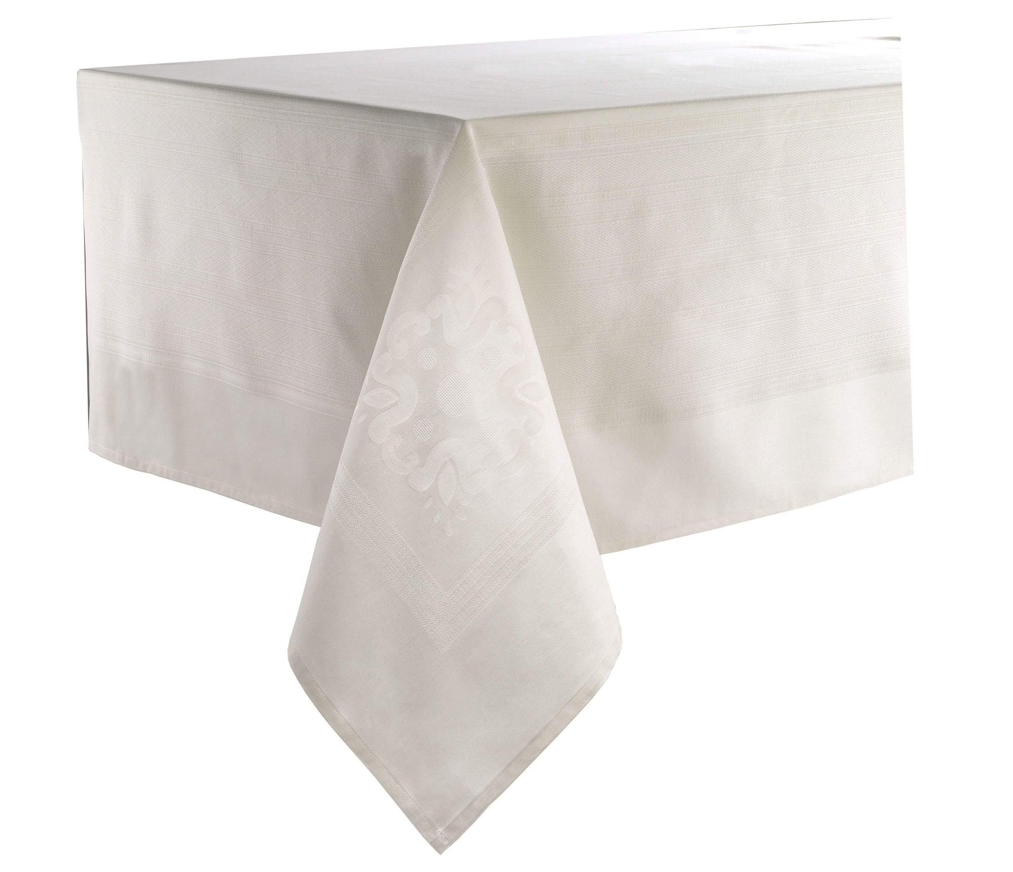 "Bodrum Villa Tablecloth - Ivory - 63"" x 144"""