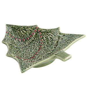 Bordallo Pinheiro Bordallo Pinheiro Green Christmas Tree Small Bowl 65002083