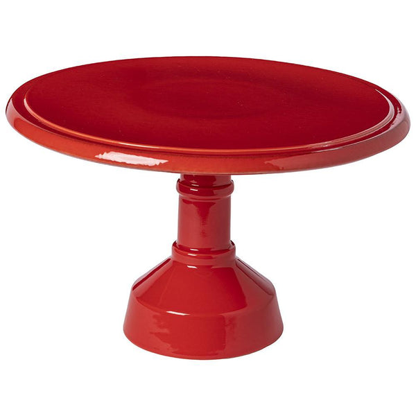 "Casafina Casafina Cook and Host Footed Cake Plate 13"" - Red VAP332-RED"