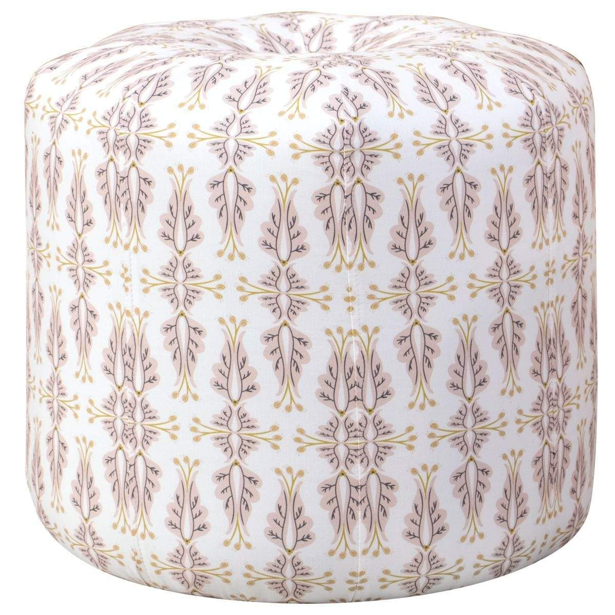 Cloth & Company Cloth & Company Isabelle Ottoman in Chan Damask Blush Oga COT1702CHDMBLSOGA