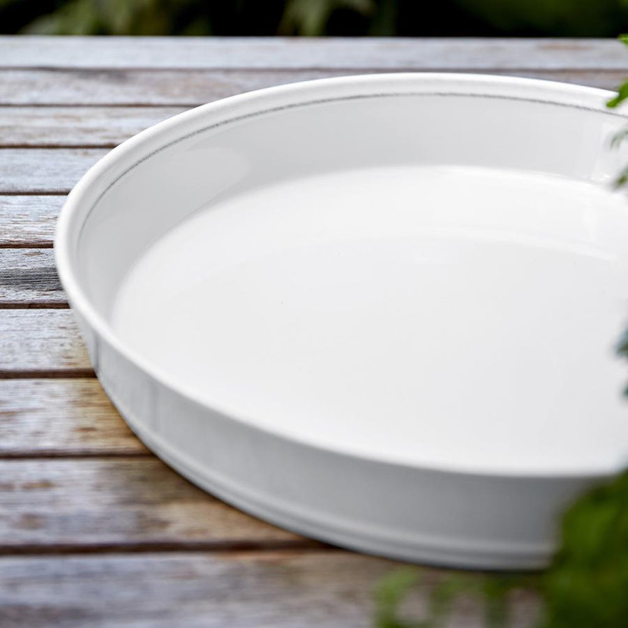 "Costa Nova Costa Nova Friso Pie Dish 12"" - White FIT301-02202F"