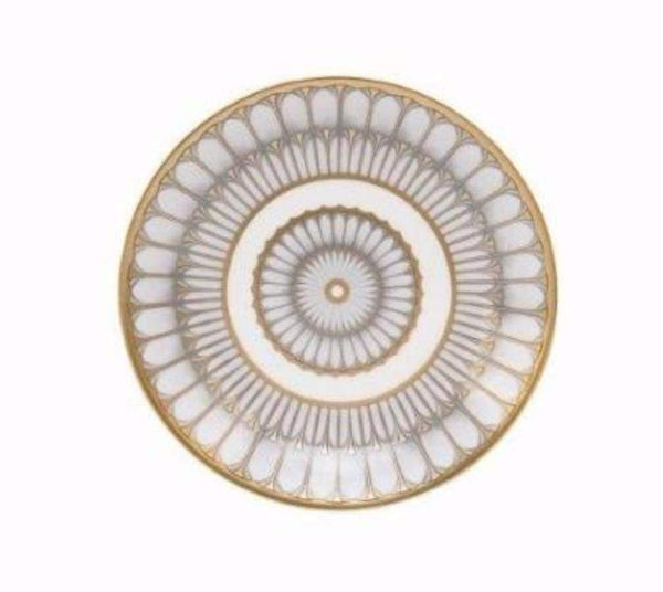 Deshoulieres Deshoulieres Arcades Bread and Butter Plate Grey and Matte Gold 30459