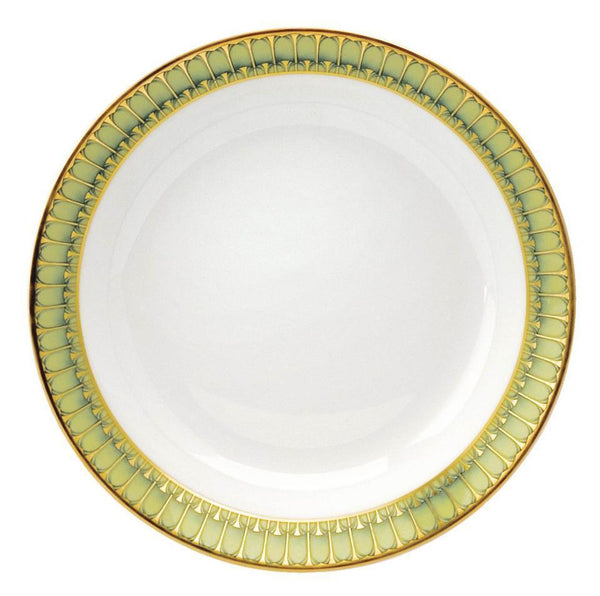 Deshoulieres Deshoulieres Arcades Soup and Cereal Plate Green ACC-MZ6722