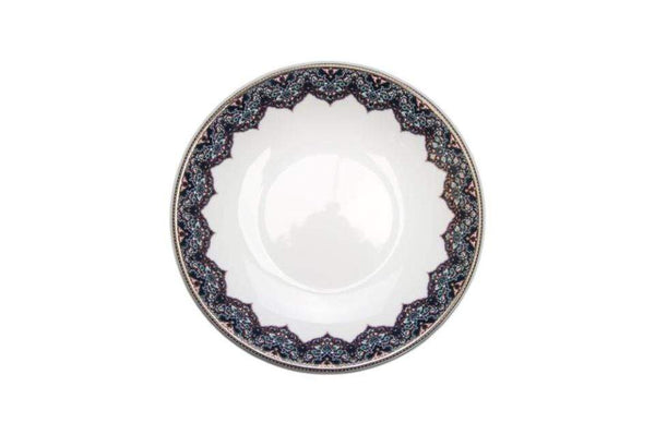 Deshoulieres Dhara Peacock Soup / Cereal Plate AC-JR3189