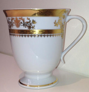 Deshoulieres White Orsay Footed Mug 033299