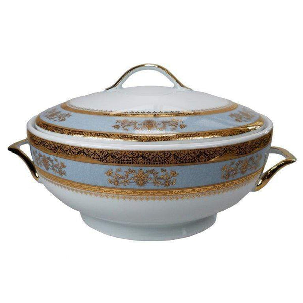 Deshoulieres Powder Blue Orsay Footed Soup Tureen SP-RI6289