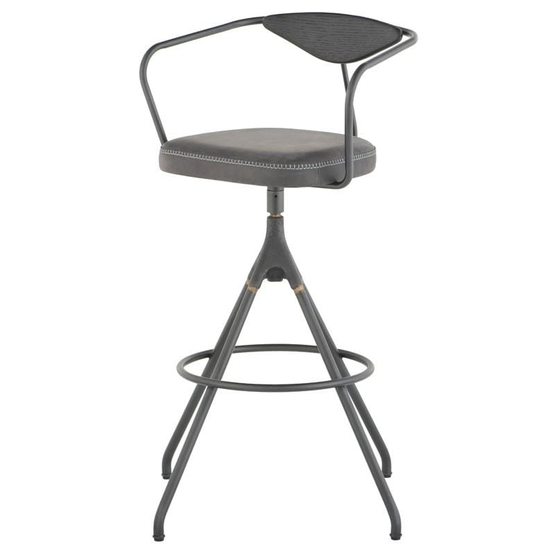 District Eight District Eight Akron Bar Stool - Storm Black HGDA565