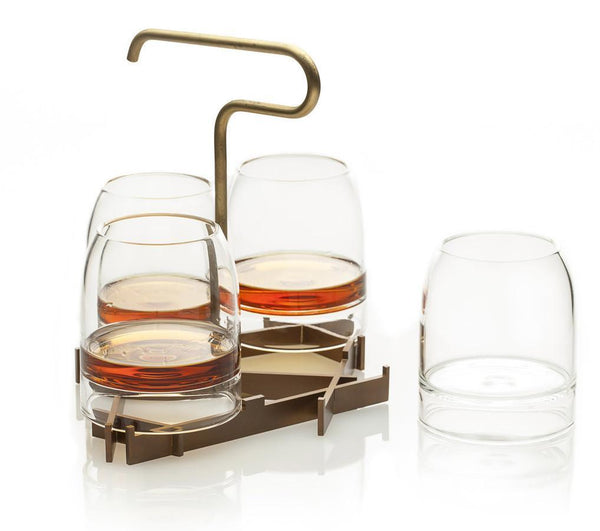 Fferrone Rare Cocktail Glasses & Presenter Set PSRA04