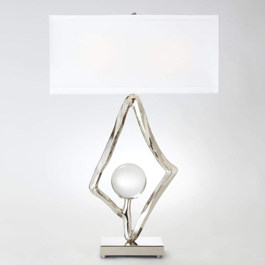 "Global Views Abstract Lamp w/6"" Crystal Sphere - 2 Available Colors"